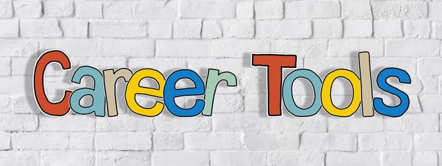 Career Tools Word on Brick Wall