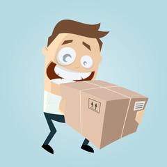 paket lieferung business mann lustig