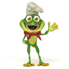 Chef frog say hello