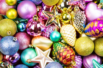 Christmas toys texture background
