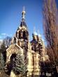 canvas print picture - Kirche des Heiligen Simeon vom wunderbaren Berge
