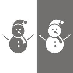 Icono muñeco de nieve BN