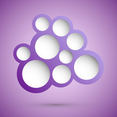Abstract violet speech bubble background