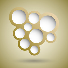 Abstract gold speech bubble background