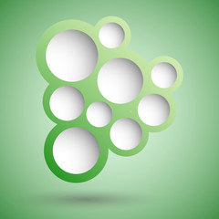 Abstract green speech bubble background