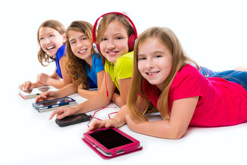 sisters kid girls tech tablets and smatphones