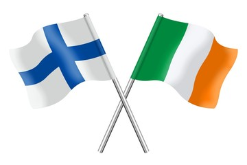 Flags: Finland and Ireland