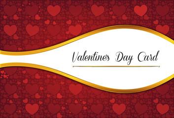 Decorative valentine's day celebrate card
