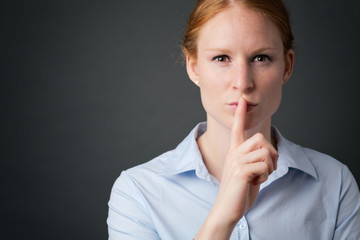 Businesswoman - Quiet or Keep a Secret