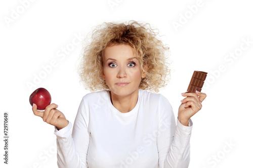 Apple or chocolate - 72970649