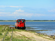 canvas print picture - Wangerooge Inselbahn