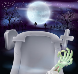 Grave Halloween background