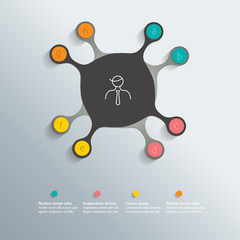 Circle infographic template. Vector.