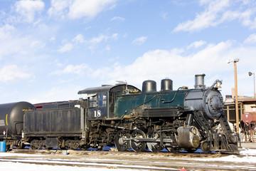 steam locomotive, Alamosa, Colorado, USA
