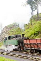 steam freight train, delivery point in Oskova, Bosnia and Herceg