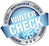 "Button Banner ""Wintercheck"" blau/silber"