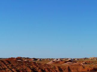 Australian outback opal mining town of Coober Pedy