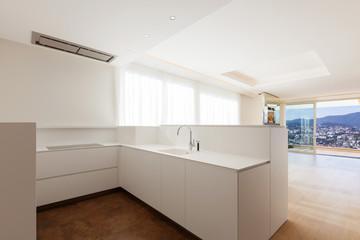 White super minimalist kitchen