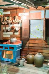 Thai style cooking corner