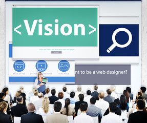 Group of Business People Seminar Vision Concepts