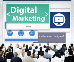 Business People Digital Marketing Seminar Concepts