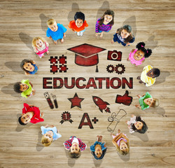 Multiethnic Children with Education Concepts