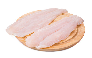 Fresh fillet of pangasius.