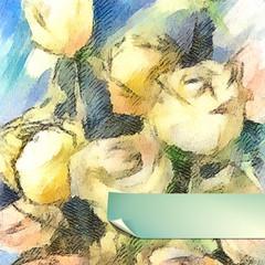 Vector Flower Watercolor Roses