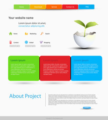 website design template, easy editable
