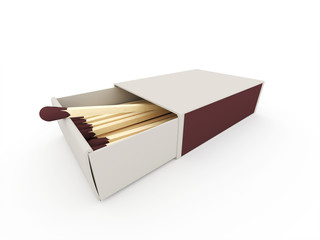 Matches on box rendered isolated