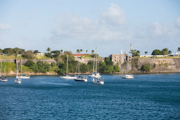 Yachts and Sailboats under French Fort