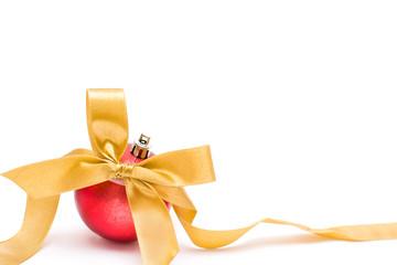 Christmas bow and balls