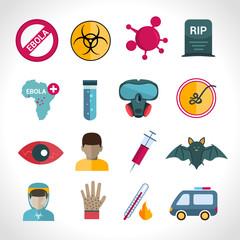 Ebola virus icons