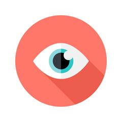 Vision Eye Circle Flat Icon