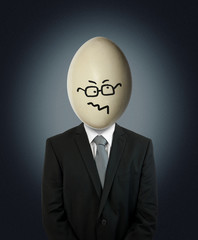 confused businessman egg head
