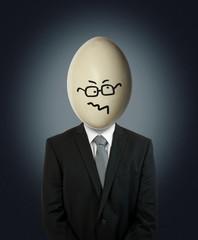 confused businessman egg head