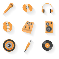 Audio equipment icon set. EPS 10 vector illustration