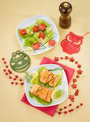 Salmone grigliato per menù di Natale