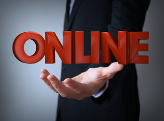 online over businessman