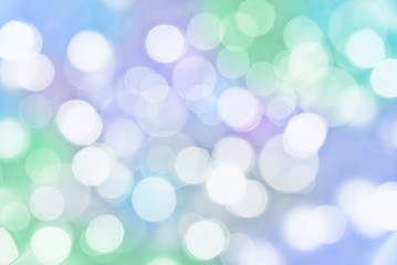 Holiday colorful background with blurred bokeh lights