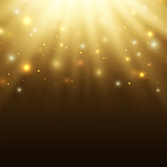 Abstract celebration background with particles and rays
