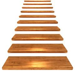 Holztreppe, braun mit Alphakanal