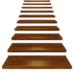 Holztreppe dunkel-braun mit Alphakanal