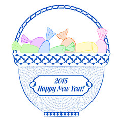 2015 Happy New Year Postcard