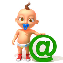 Baby Jake with email @ sign