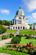 View to Saint Joseph oratory on Mount royal in Montreal. Canada.