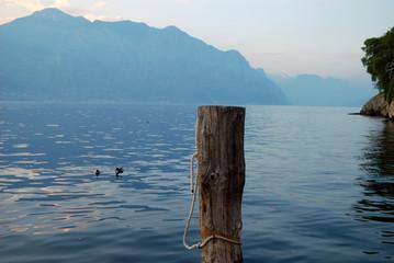 Sunset on Garda lake, Malcesine