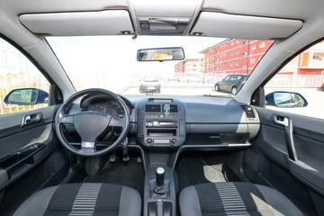 Black and grey car interior