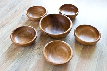 Wooden bowls figure