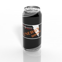 3D Energy Drink can isolated on white